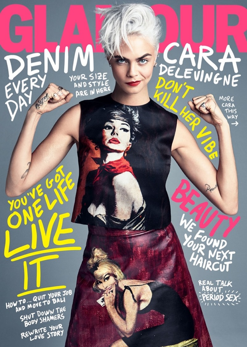 GLAMOUR MAGAZINE Cara Delevigne by Patrick Demarchelier. Jillian Davison, August 2017, www.imageamplified.com, Image Amplified1