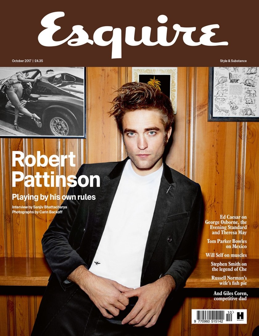 ESQUIRE UK Robert Pattinson by Carin Backoff. Catherine Hayward, October 2017, www.imageamplified.com, Image Amplified1