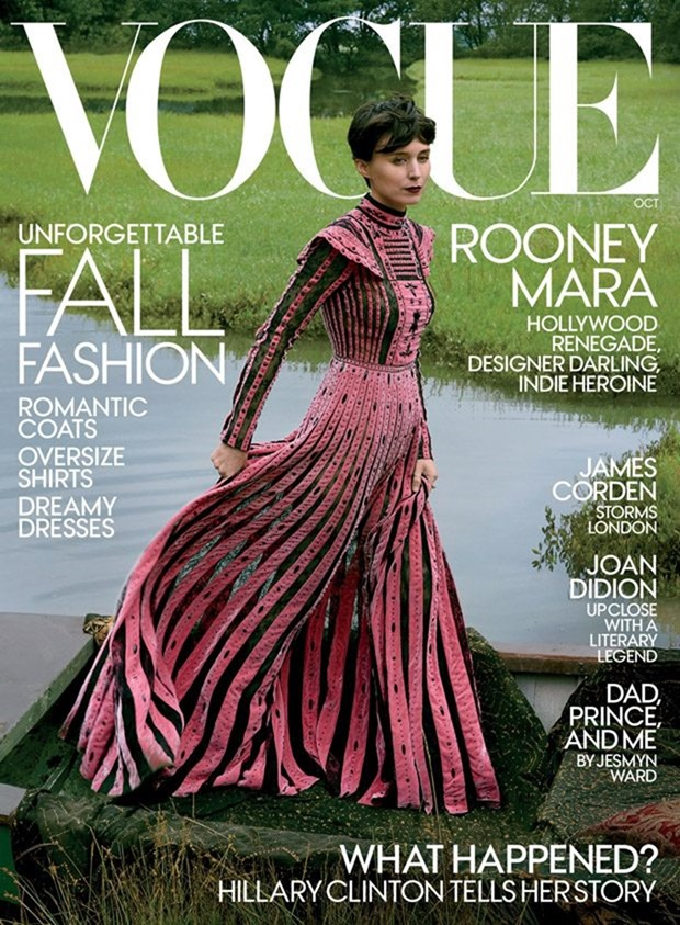VOGUE MAGAZINE Rooney Mara by Annie Leibovitz. Tonne Goodman, October 2017, www.imageamplified.com, Image Amplified1