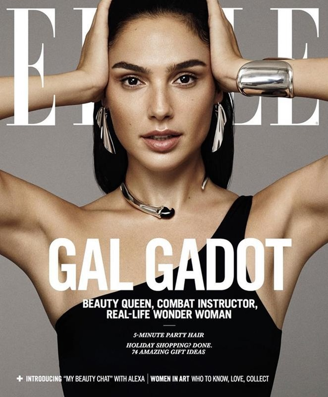 ELLE MAGAZINE Gal Gadot by Paola Kudacki. Simon Robins, December 2017, www.imageamplified.com, Image Amplified1