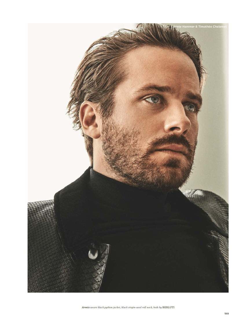 GQ STYLE UK Armie Hammer & Timothee Chalamet by Giampaolo Sgura. Luke Day, Fall 2017, www.imageamplified.com, Image Amplified1