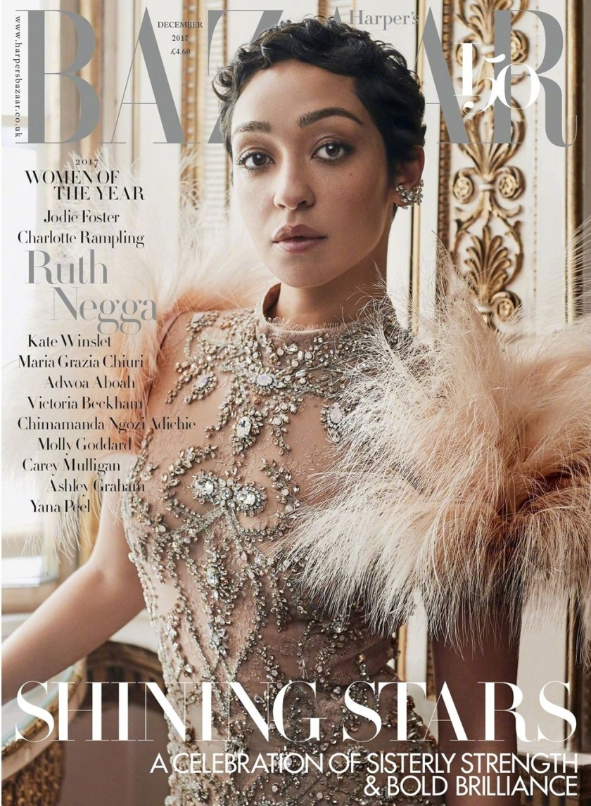 HARPER'S BAZAAR UK Ruth Negga by Agata Pospieszynska, December 2017, www.imageamplified.com, Image Amplified9