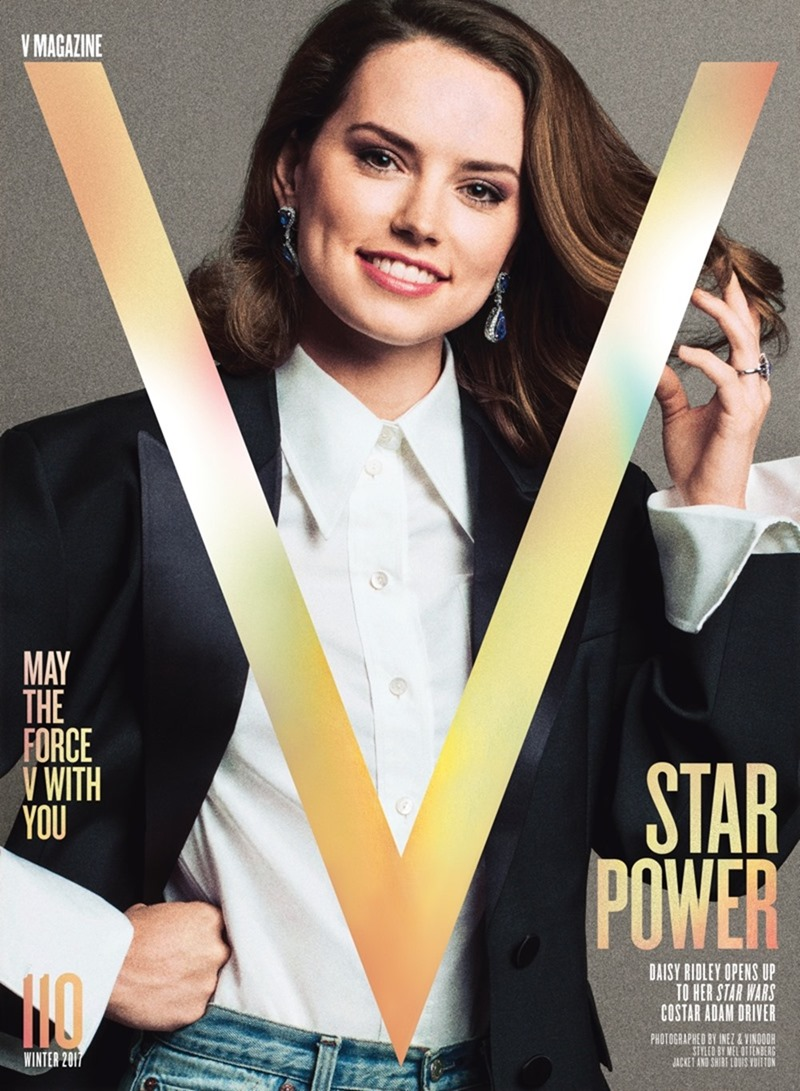 V MAGAZINE Daisy Ridley by Inez & Vinoodh. Mel Ottenberg, Fall 2017, www.imageamplified.com, Image Amplified1