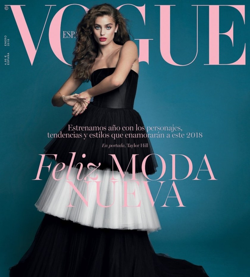 VOGUE SPAIN Taylor Hill by Bjorn Iooss. Juan Cebrian, January 2018, www.imageamplified.com, Image Amplified2