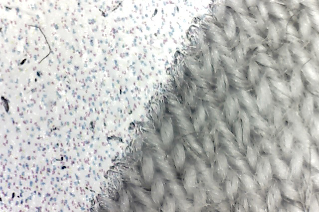 100 percent cotton white ink film closeup