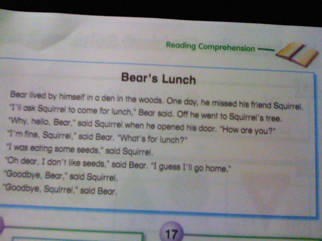 Bear's Lunch - The Story