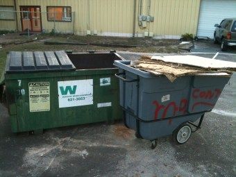 I filled the dumpster!