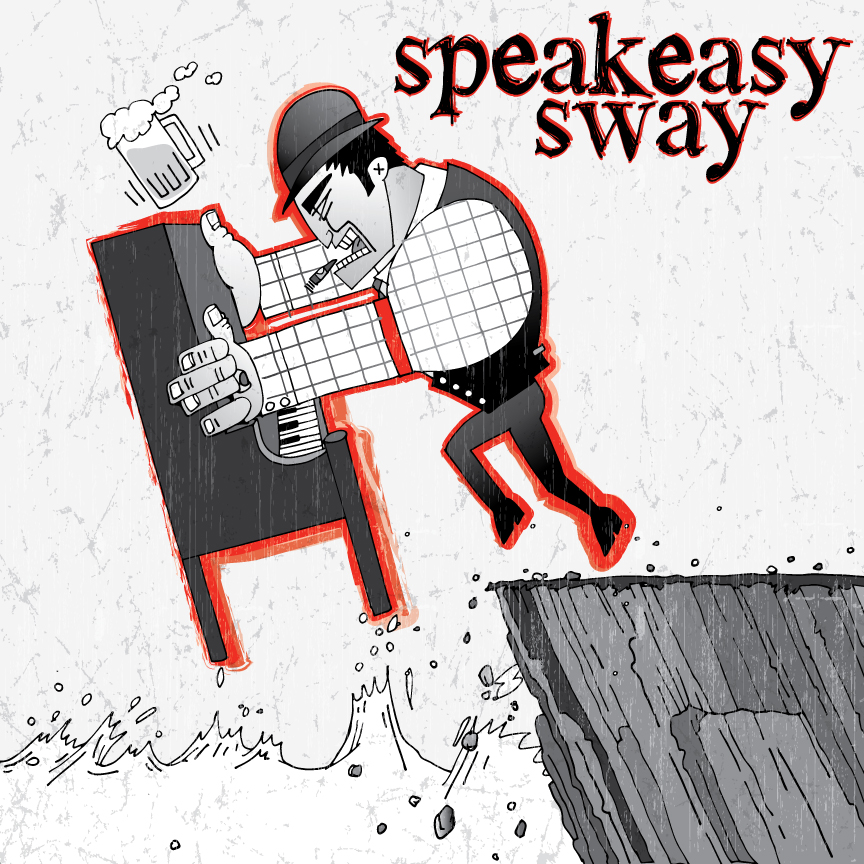 Speakeasy Sway CD Cover Concept. Hand drawn , scanned and vectorized in Illustrator.