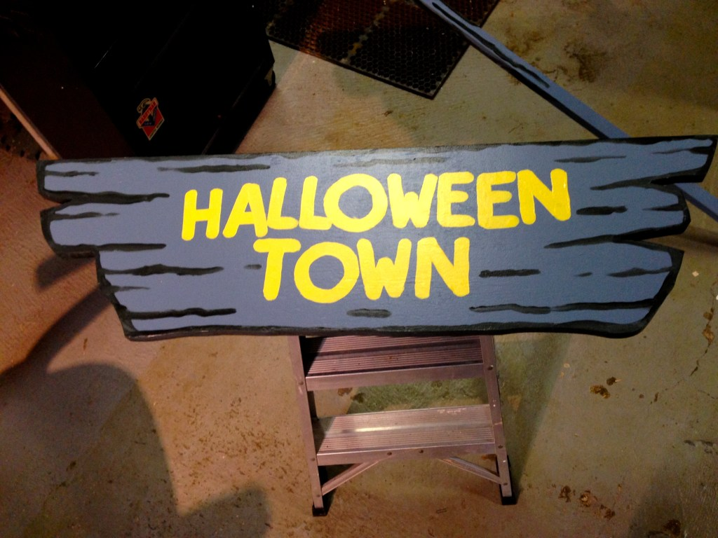 Halloween Town Sign