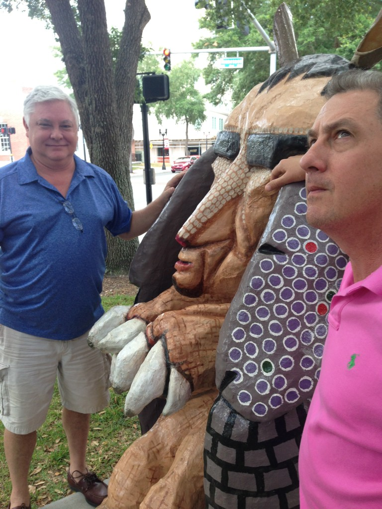 John and Mark with Armadillo
