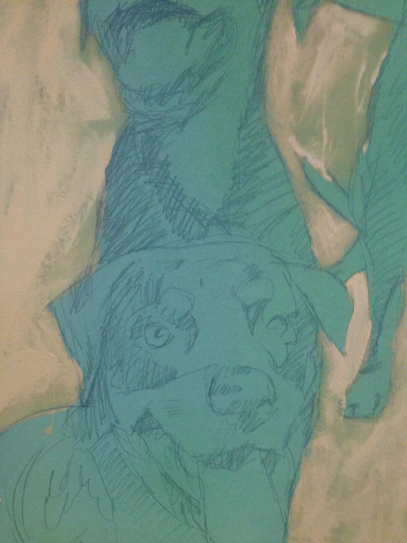 hounds blue sketch
