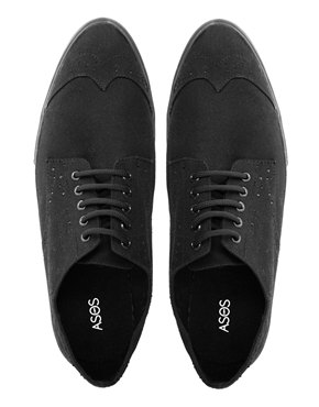 ASOS Canvas Brogue Plimsolls