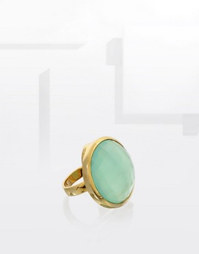 Monica Vinader Sterling Silver with 24 Carat Gold Plating Round Cocktail Ring