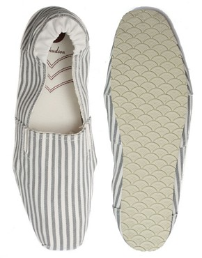 H by Hudson Neto Stripe Slip-On Shoes