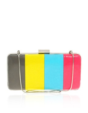 ASOS Colour Block Hard Clutch