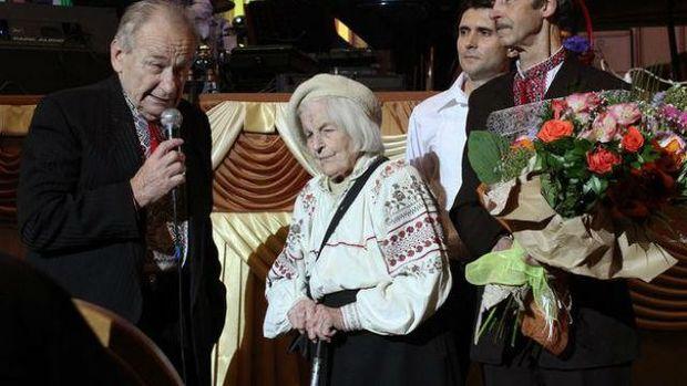 Ольга Ільків та син Романа Шухевича Юрій