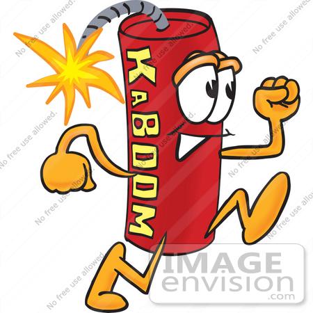 Cartoon Dynamite Stick of red dynamite cartoon