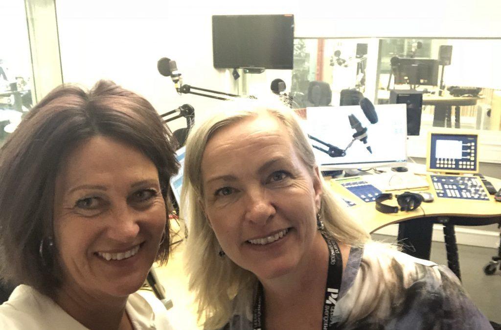 Gäst hos P4 Uppland Sveriges Radio.