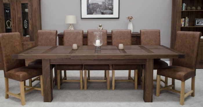 Riva Solid Chunky Walnut Dining Room Furniture Grand