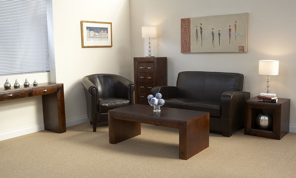 Michigan DARK WOOD Living Room Furniture COFFEE TABLE