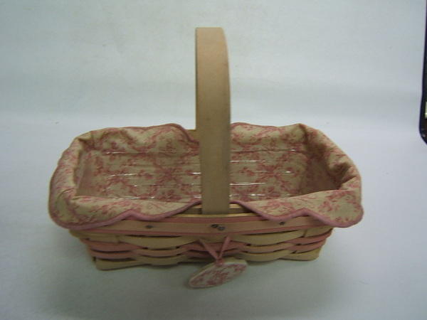 Longaberger Basket 2000 Horizon Of Hope Liner Tie On Pr EBay