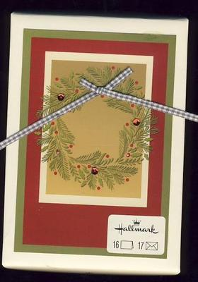 HALLMARK BOXED CHRISTMAS CARDS RIBBONS Amp WREATHS 16 NIB
