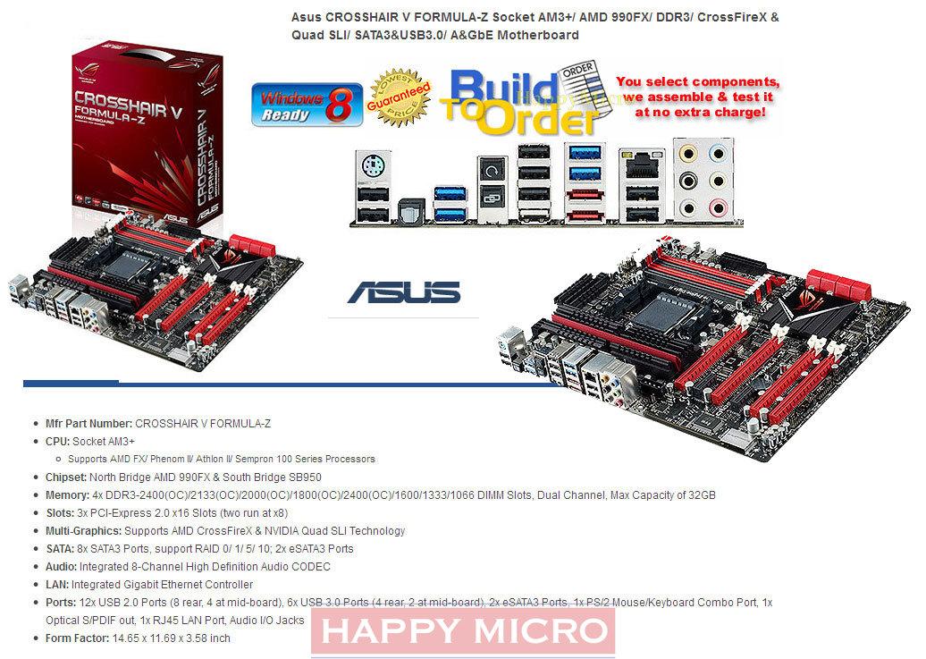 Am3 Amd Crosshair Usb Atx Asus Motherboard 990fx Amd 3 Z 0 S 6gb Formula Sata V