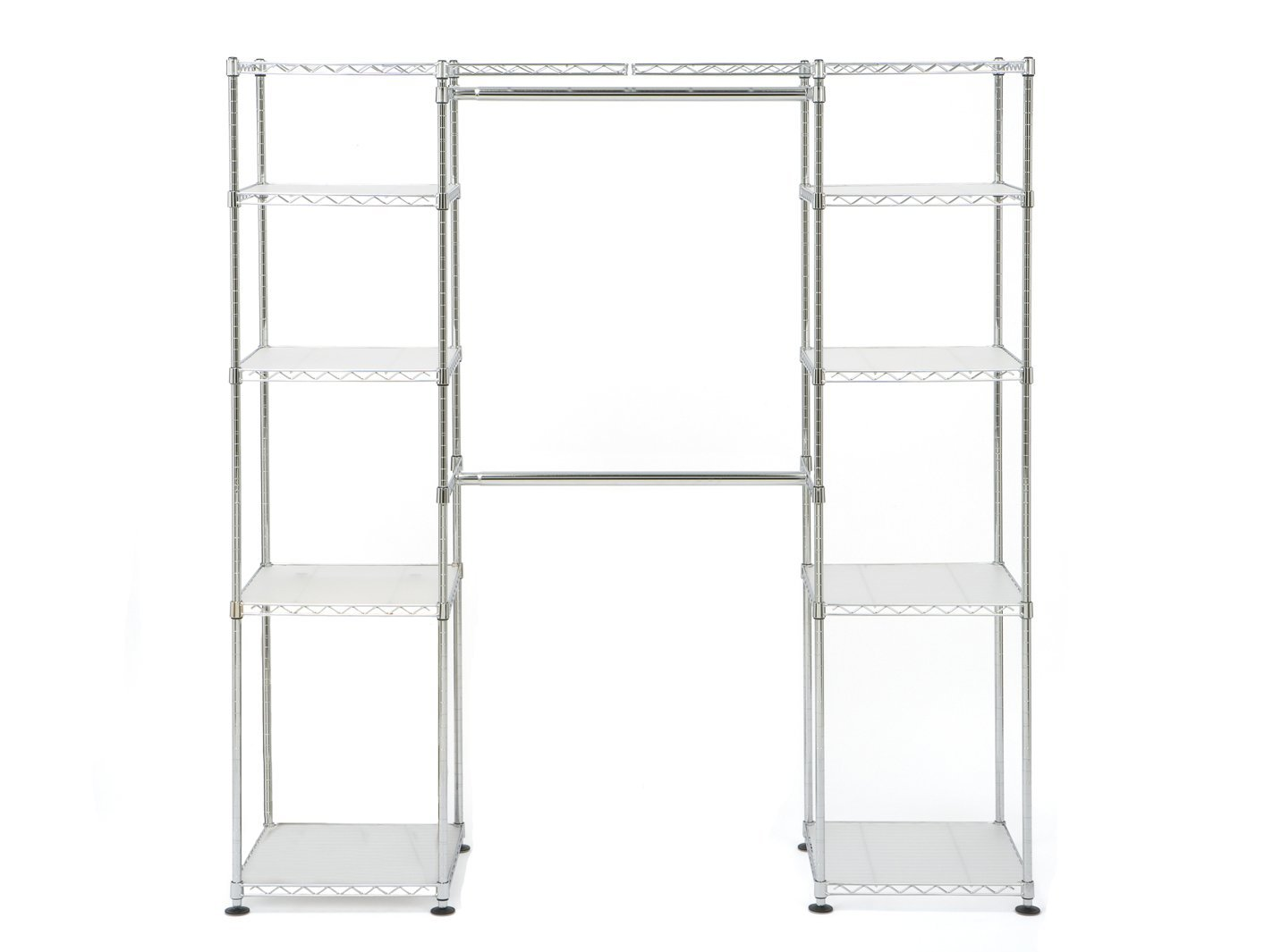 Seville Classics Str Expandable Closet Organizer Str Chrome Pppa Avi Depot Much More