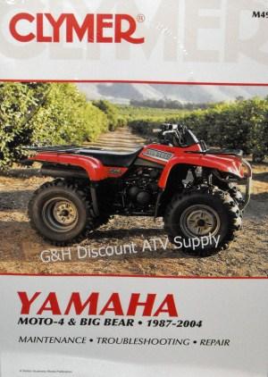 Yamaha YFM 350 Big Bear & 350ER Moto4 Repair Manual!   eBay