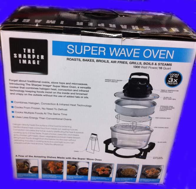New Sharper Image Super Wave Oven Infrared Amp Convection