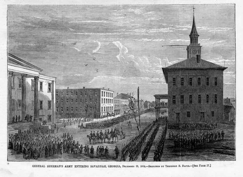 Savannah Georgia General Sherman S Army Entering Savannah