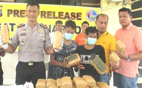 Polres Sergai Gagalkan Penyelundupan 24 Kg Asal Aceh