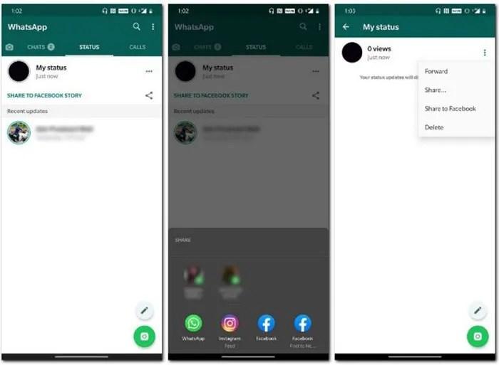 Como compartir estados whatsapp en facebook