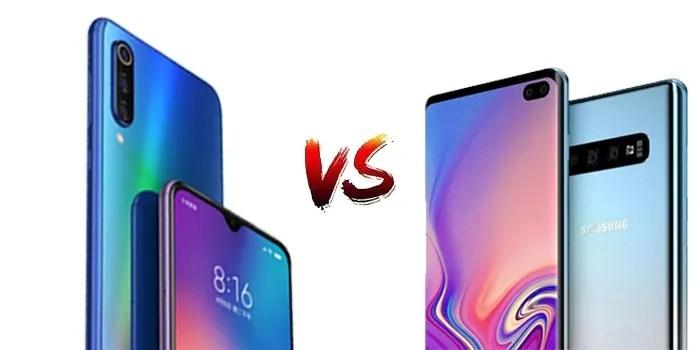 Comparativa Xiaomi Mi 9 vs Samsung Galaxy S10+