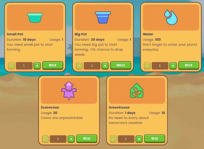 Find out what are the prices of the plants and objects of Plant vs Undead