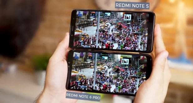 Redmi Note 5 vs Redmi Note 6 Pro