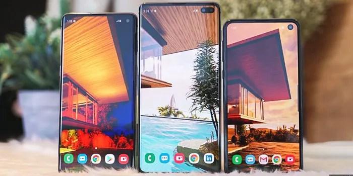 captura de pantalla en Samsung Galaxy S10 S10plus S10e