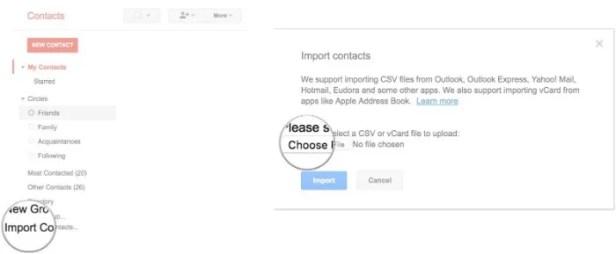 contatos de exportação iphone para android
