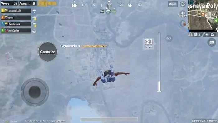 pubg mobile zombie aterrizar
