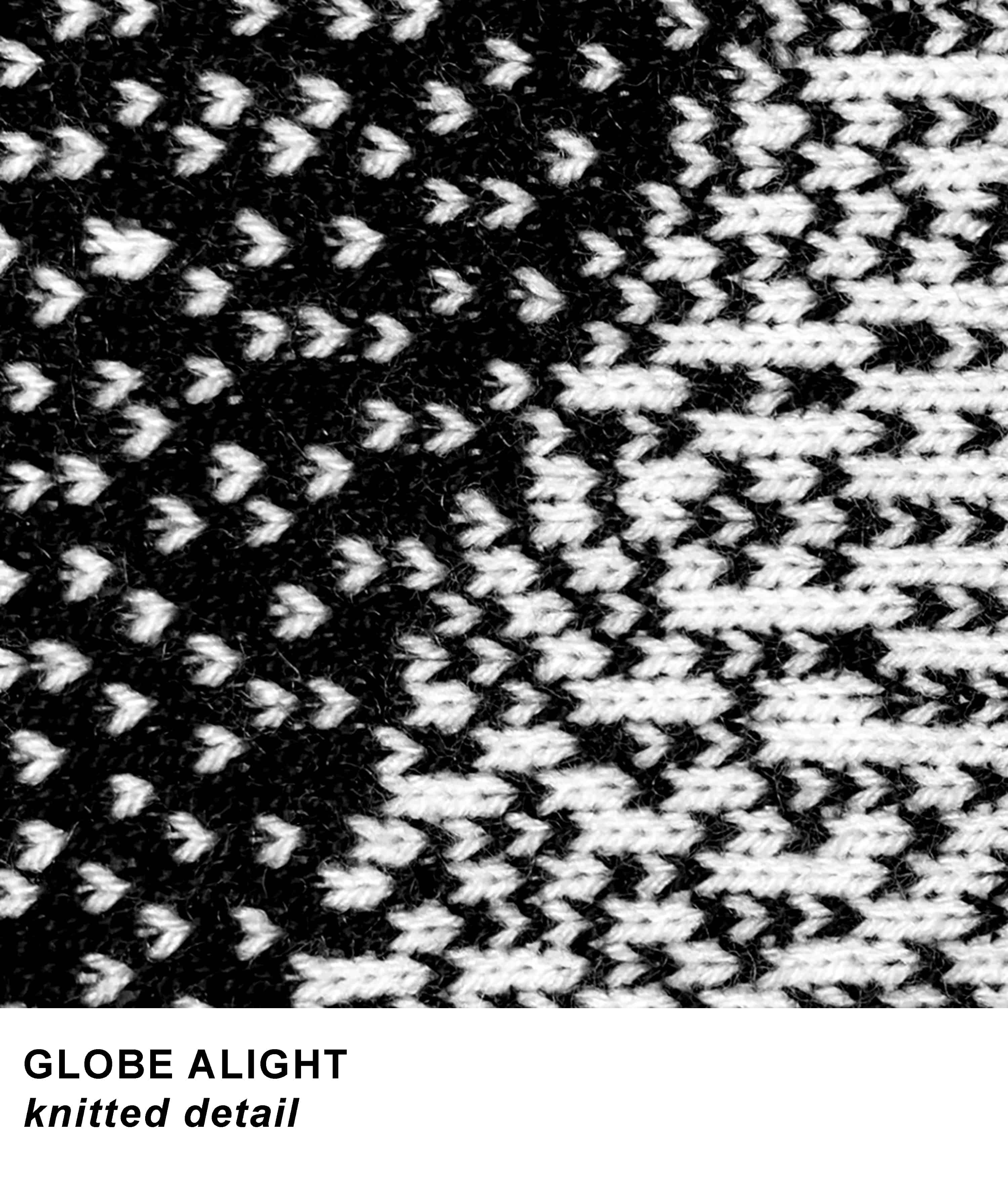 GLOBE ALIGHT knitted detail template