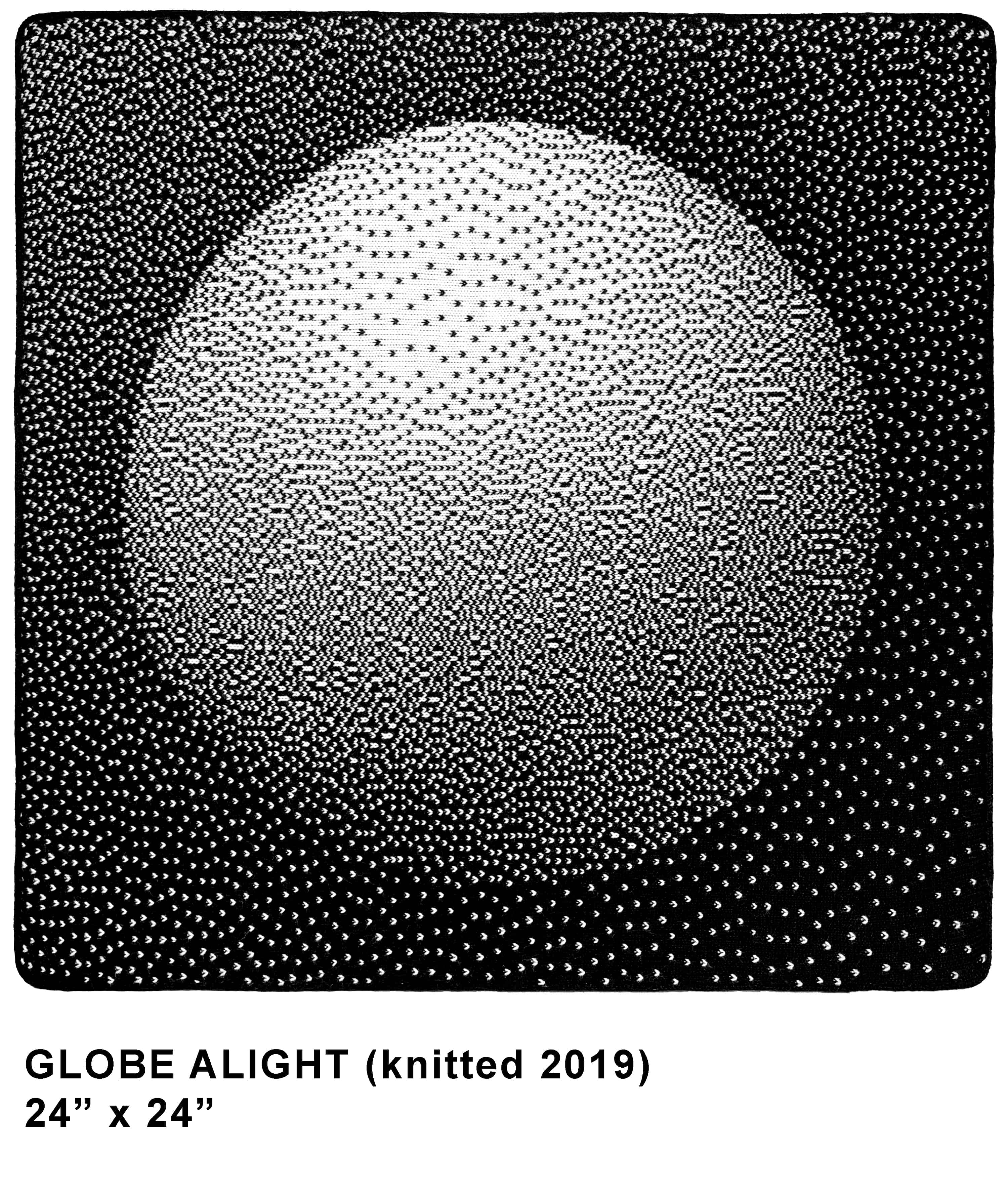 GLOBE ALIGHT knitted template