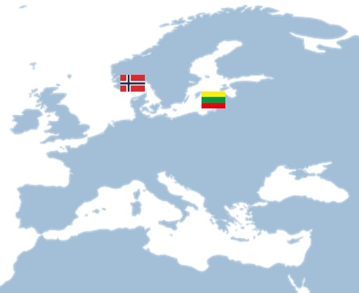 This image has an empty alt attribute; its file name is europe-map-Norway-and-Lithuania.jpg