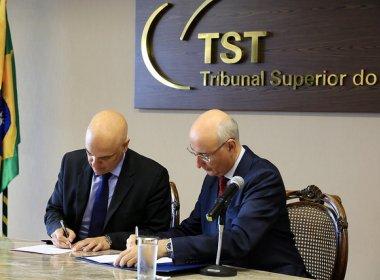 TST e Ministério da Justiça firmam acordo contra fraudes trabalhistas de empresas