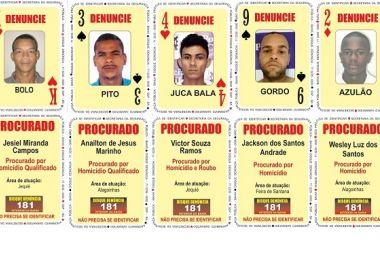 'Bolo', 'Juca Bala', 'Pito' e mais dois são incluídos em Baralho do Crime na BA