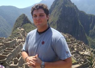 O repórter Joel Datena em Machu Picchu, no Peru