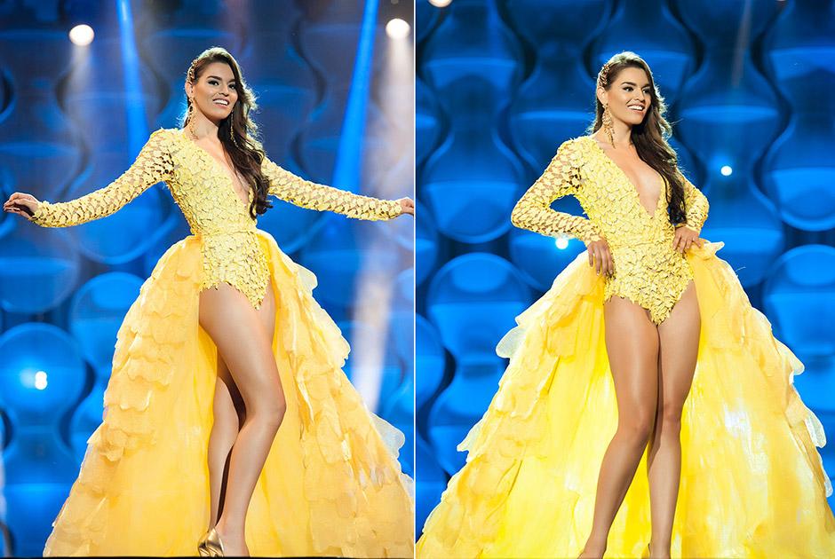 Miss Mato Grosso do Sul, Érika Moura se inspirou na exuberante árvore do Pantanal, o Ipê Amarelo