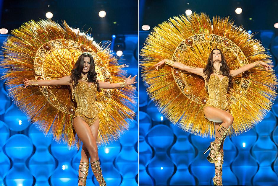 Miss Ceará, Melissa Gurgel, representa a deusa do sol da reserva indígena Pitaguary, de Maracanaú