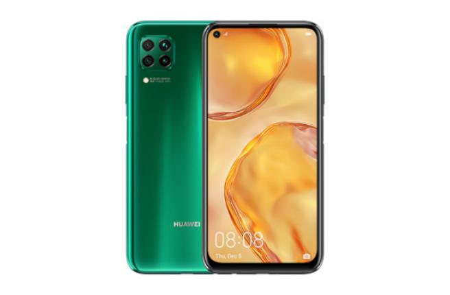 El Huawei P40 Lite en vistoso color verde