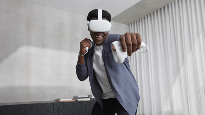 Puedes usar las Oculus Quest 2 sin cables conectados.