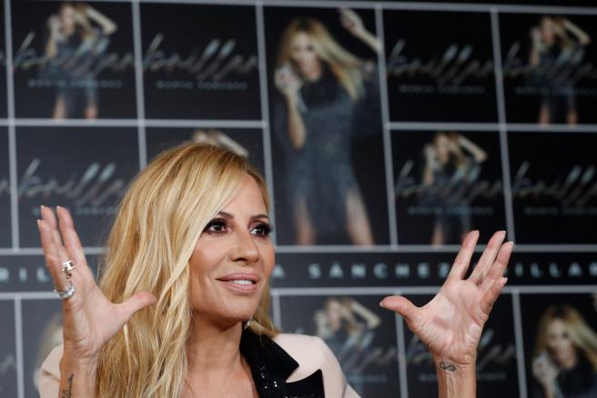 Marta Sánchez en la presentación de 'Brillar'.